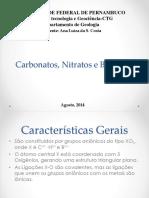 Carbonatos, Nitratos e Boratos