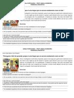 Variedade Linguística - questões discursivas