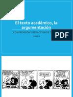 El Texto Argumentativo 2016-3