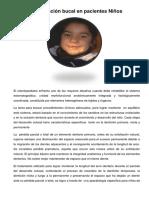 Rehabilitación Protética en Niños Mayo 2014