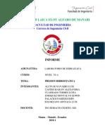 Laboratorio de Hidraulica Informe Listo