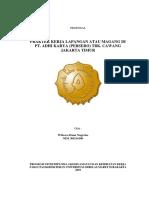 Proposal Magang Pt. Adhi Karya