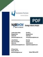 Silverwood Partners Strategic Analysis - Media Technology (NAB 2011)
