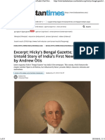 Excerpt:Hicky's Bengal Gazette; The Untold Story of India's First Newspaper by Andrew Otis