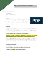 Mediacao Na Pratica Pedagogica Do Professor Para a Promocao Da Alfabetizacao e Do Letramento