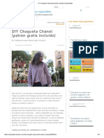 DIY Chaqueta Chanel (Patrón Gratis Incluído) _ Manualidades Tutorial Chaqueta Chanel