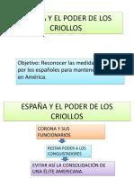 España y El Poder de Los Criollos