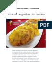 Receta Tortillitas de Gambas Con Cerveza