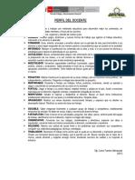 Perfil Del Docente 2018