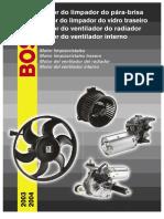 Bosch Catálogo Motor Limpador-Ventoinha-Ventilador