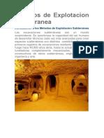 Metodos de Explotacion Subterranea