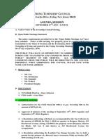 2010-09-27 Council Agenda Session