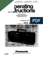 RX-CT980 Boombox Operation