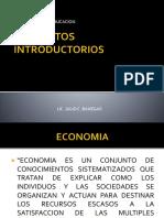 CONCEPTOS INTRODUCTORIOS- ECONOMIA