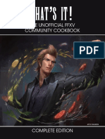 Unofficial FFXV Cookbook