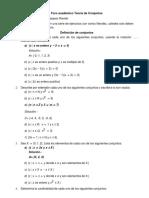 Foro Académico Teoría de ConjuntosPrimerBimestre