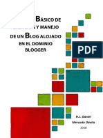 Tutorial Básico de Creación y Manejo de Un Blog Alojado en Blogger