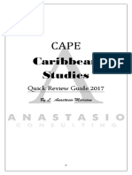 Caribbean Studies Quick Review Guide