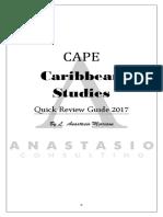 Caribbean Studies Quick Review Guide