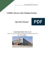 YM80SA Abrasive Belt Polishing Machine-Operation Manual
