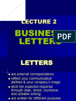 Lec 2 Business Letters