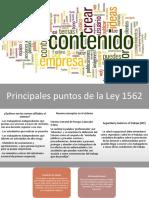 LEY 1562 de 2012 Contenido