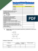 Ejercicio Sobre Expresiones Algebraicas Nelson G. c
