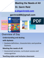 Gavin Reid - Dyslexia - Meeting the Needs of All