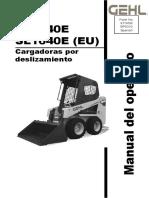 SL1640E Skid Loader Operators Manual (Spanish), 917409 B