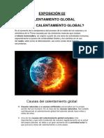 EXPOSICIÓN-02 calentamiento global