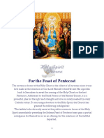 For the Feast of Pentecost