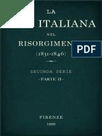 La vita Italiana nel Risorgimento (1831-1846)