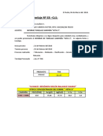 Informe Numero 03 de Tonelaje - Veta 5
