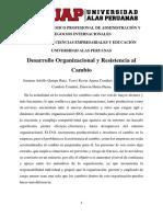 Desarrollo Organizacional y Resistencia al cambio
