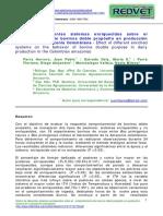 Efecto de Diferentes Sistemas Enriquecidos Sobre Comportamiento de Bovinos
