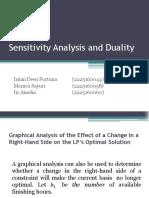 Sensitivity Analysis and Duality