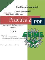 Practica 2 Teoremas de circuitos
