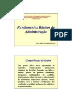 Apresentação Fundamentos da Administração