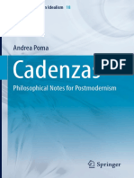 (Studies in German Idealism 18) Andrea Poma (Auth.)-Cadenzas_ Philosophical Notes for Postmodernism-Springer International Publishing (2017)