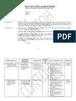 Contoh Silabus X Kimia SMK K-13 Ed Rev 2017