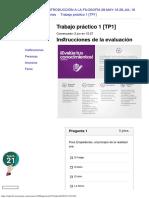 Siglo 21 Tp1- Filosofia 95% 2018