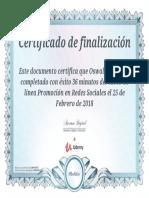 Certificado Redes Sociales