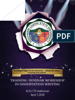 Dissertation Seminar Front Page