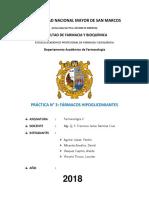 Informe 3 hipoglicemiantes