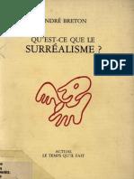 André Breton - Qu'est-ce que le surréalisme_ (1986, Actual_ Le Temps qu'il fait).pdf
