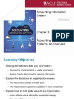 Ch1 Accounting Information Systems an Overview