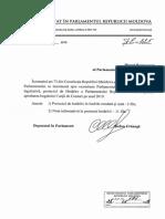 Proiectul hotărîrii pentru aprobarea bugetului Curții de Conturi pe anul 2019