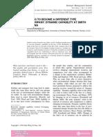 Case Dynamic Capability at Smith Corona SMJ