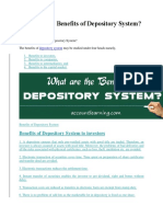 (CDS)Depository System-BENEFITS