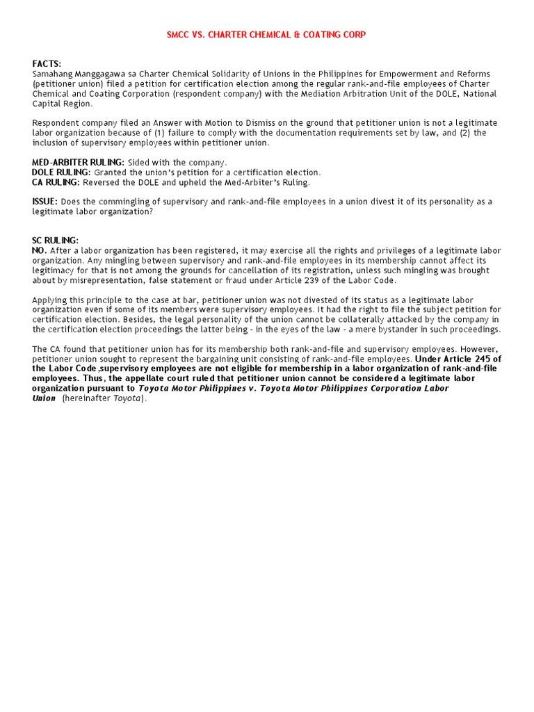 Smcc to Phil Skylanders | Unfair Labor Practice | Employment